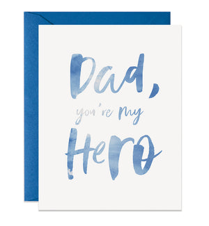Dad, You're My Hero Card | Blue