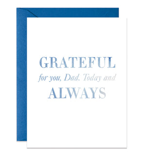 Grateful For You Dad Card | Blue
