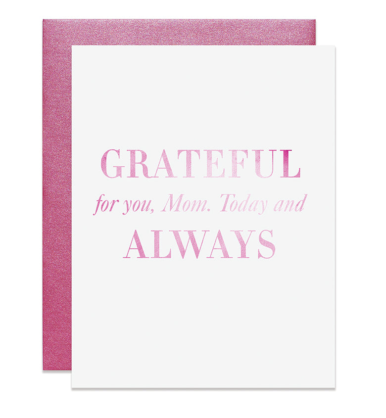 Grateful For You Mom Card