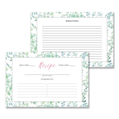 Whimsical Vines Recipe Cards | Coll. 16