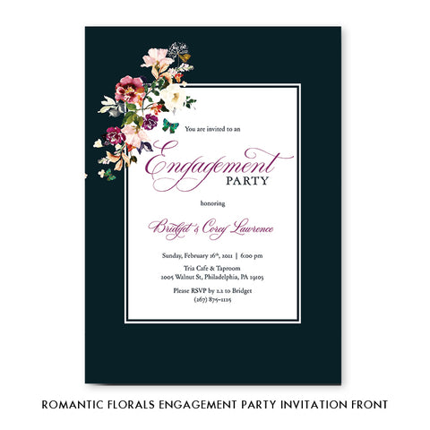 Romantic Floral Engagement Party Invitation Coll. 6
