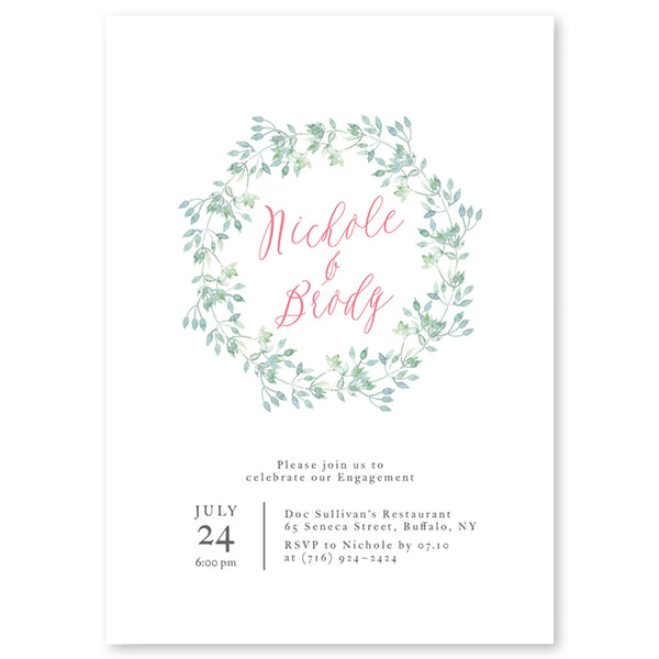 Printed Greenery Invitations