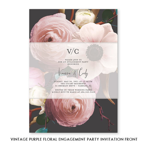 Floral Engagement Party Invitation