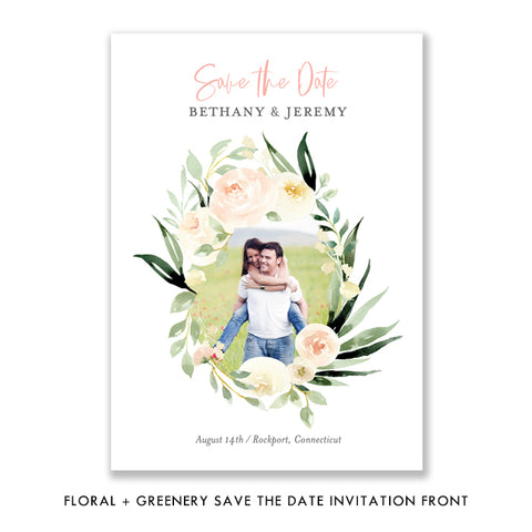 Floral + Greenery Save the Date Invitation Coll. 2