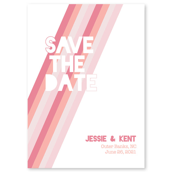 Blush Gradient Save The Date Invitation Coll. 12