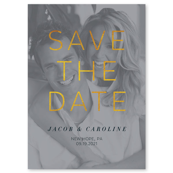 Save the Date Photo Card