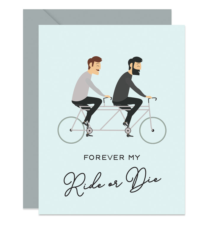 Gay Male Couple Valentine's Card