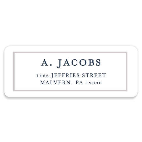 Navy Gingham Address Labels | Coll. 3