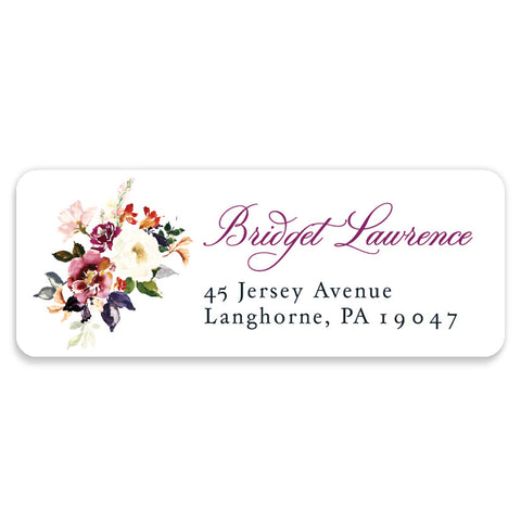 Romantic Floral Address Labels | Coll. 6