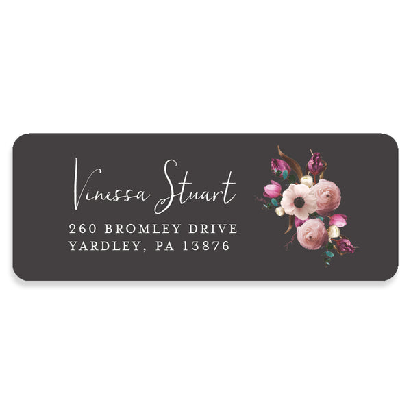 Floral Address Labels Personalized
