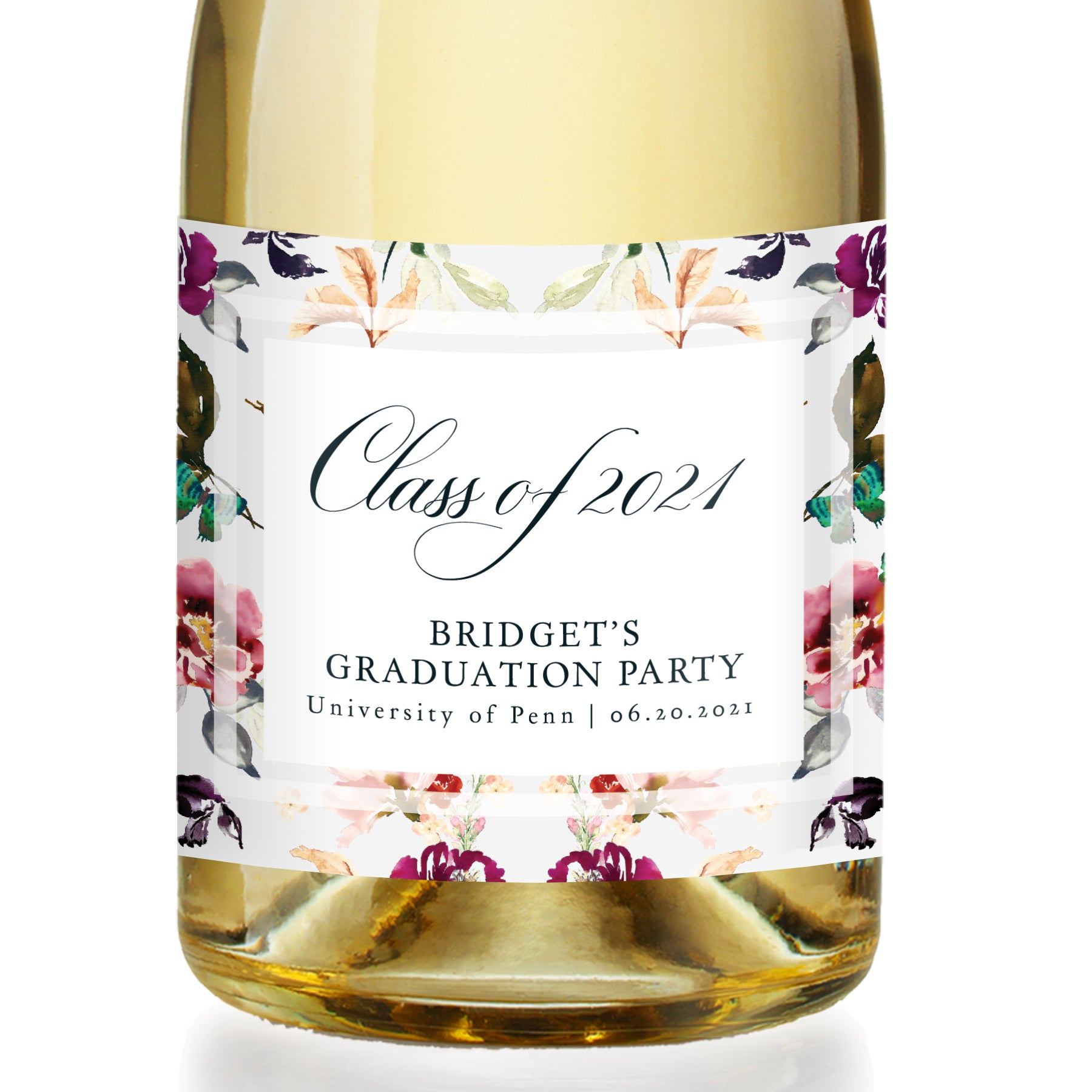 College Graduate Champagne Labels
