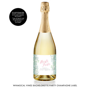 Bride Tribe Champagne Labels