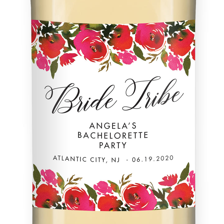 Bachelorette Party Wine Label