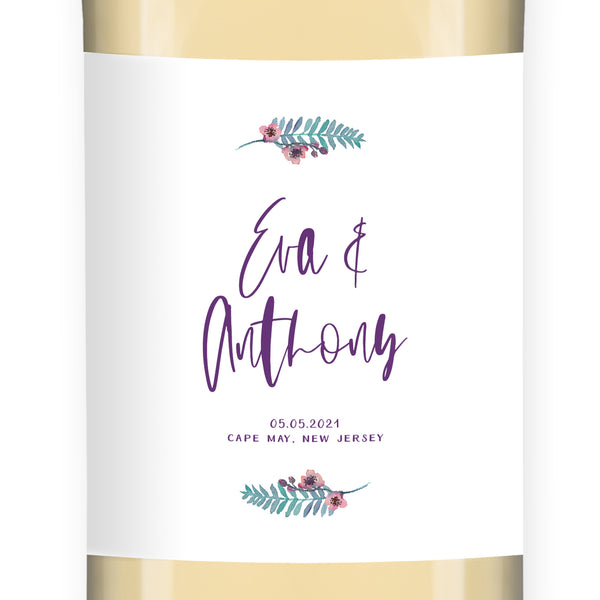 Engagement Party Wine Label