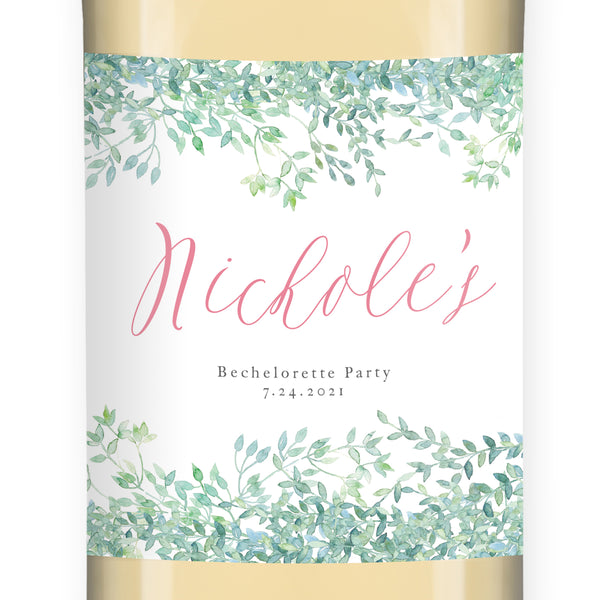 Whimsical Vines Bachelorette Party Wine Labels Coll. 16