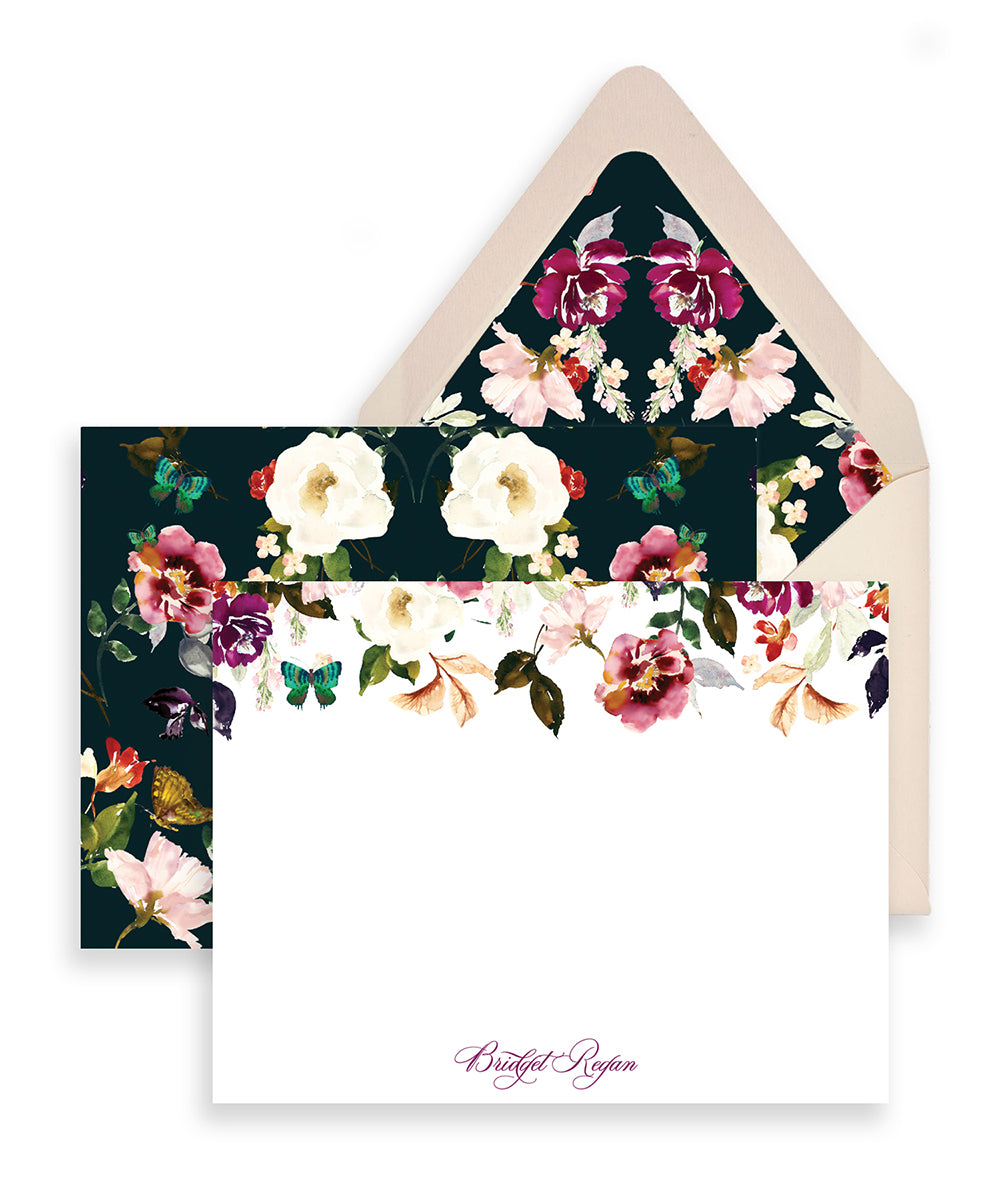 Romantic Floral Personalized Stationery