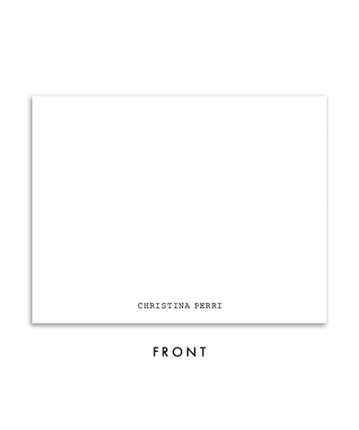 Edgy Black and White Personalized Stationery