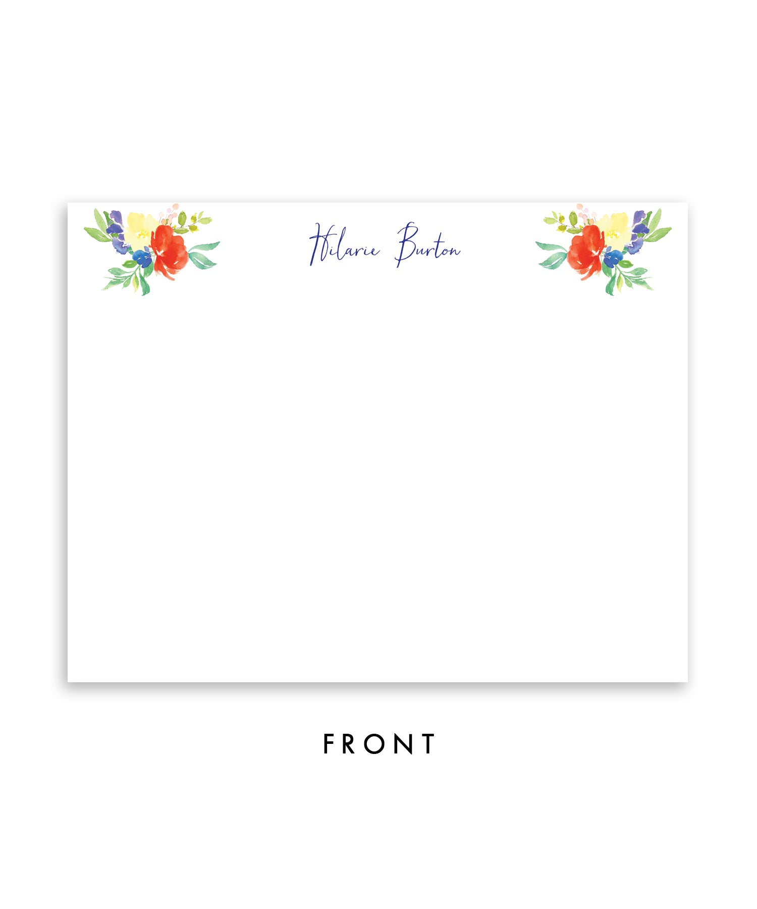 Bright Watercolor Floral Personalized Stationery Coll. 9