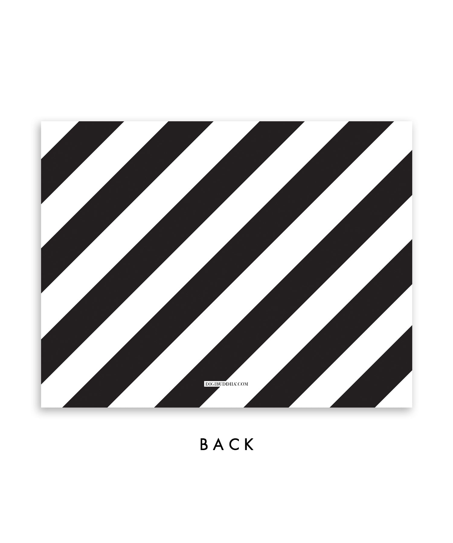 Black & White Stripes Personalized Stationery