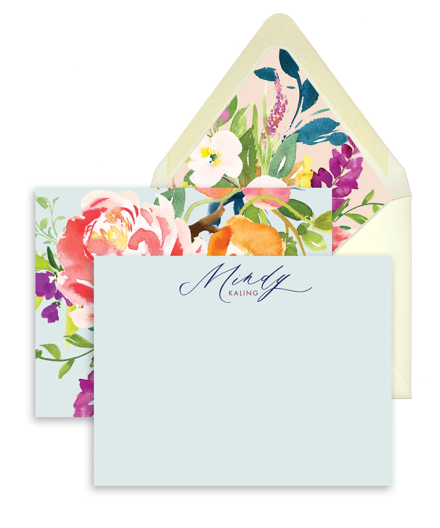 Spring Floral Personalized Stationery