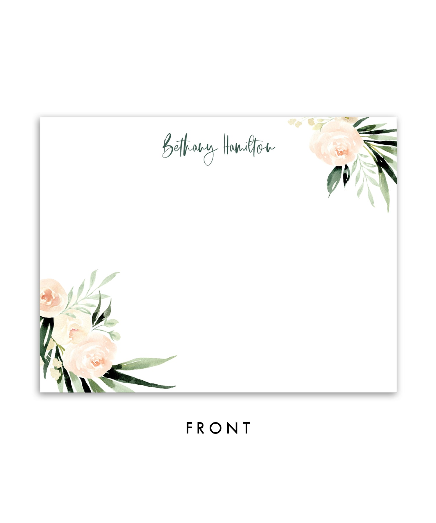 Floral + Greenery Personalized Stationery Coll. 2