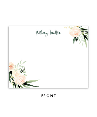 Floral and Greenery Personalized Stationery Note Cards