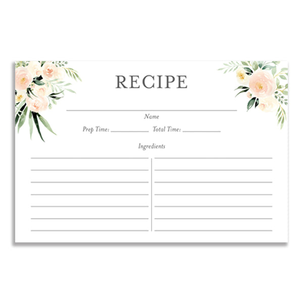 Floral + Greenery Recipe Cards Gift Set  |  Coll. 2