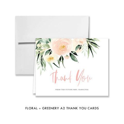 Floral Bridal Thank You Card