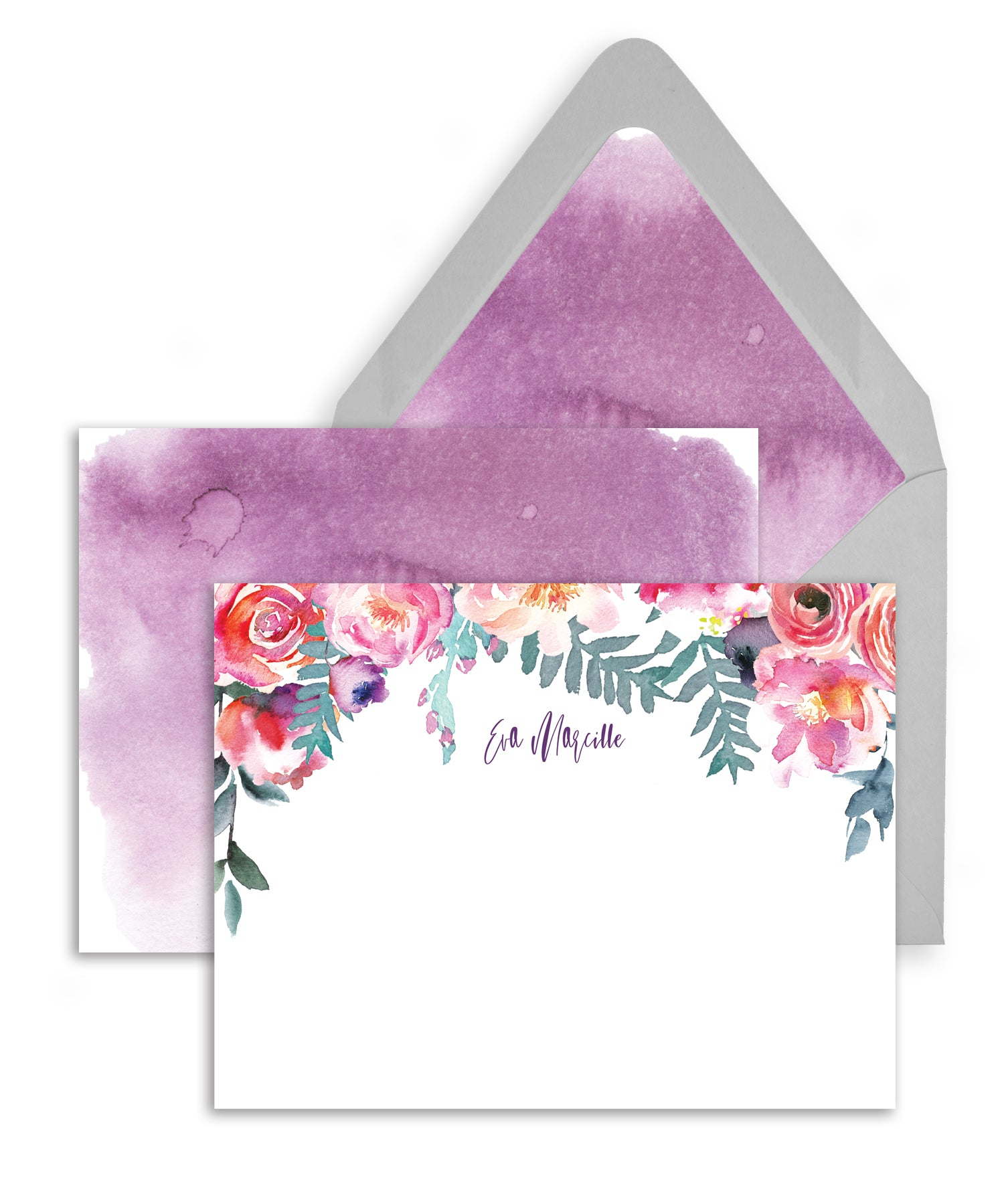 Watercolor Floral Personalized Stationery