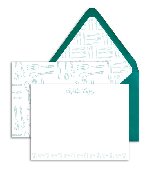 Forks & Spoons Personalized Stationery Coll. 5