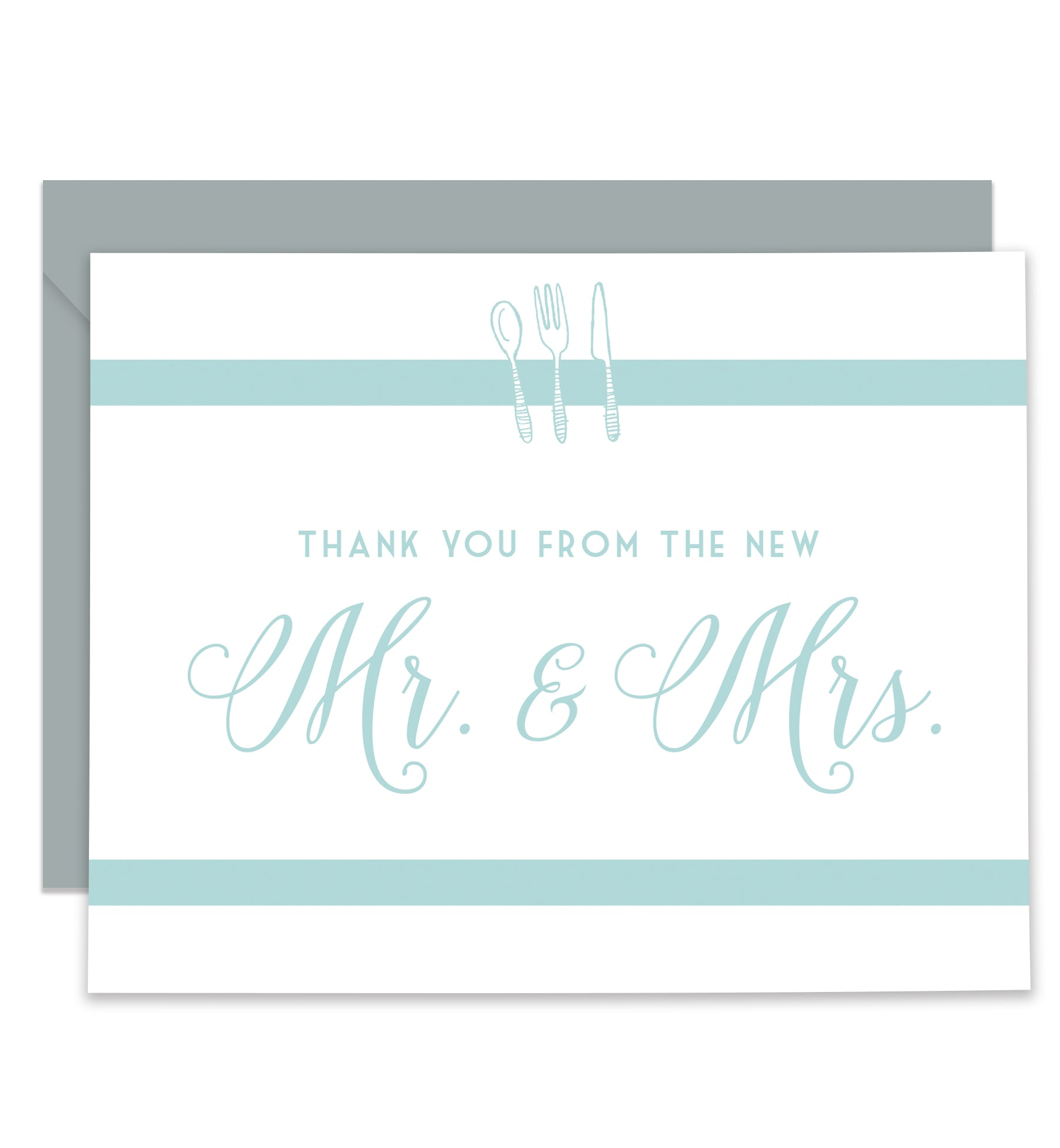 Forks & Spoons Newlyweds Thank You Cards Coll. 5