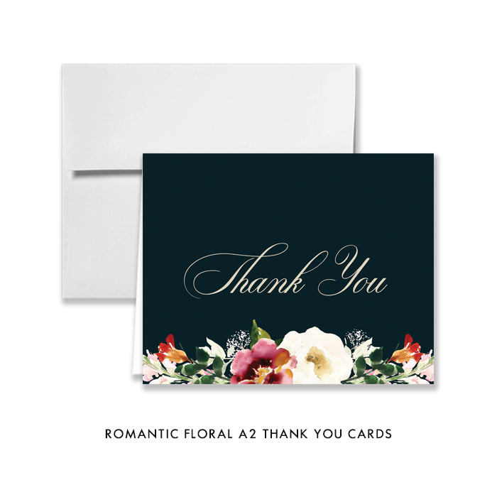 Romantic Floral Thank You Card Coll. 6