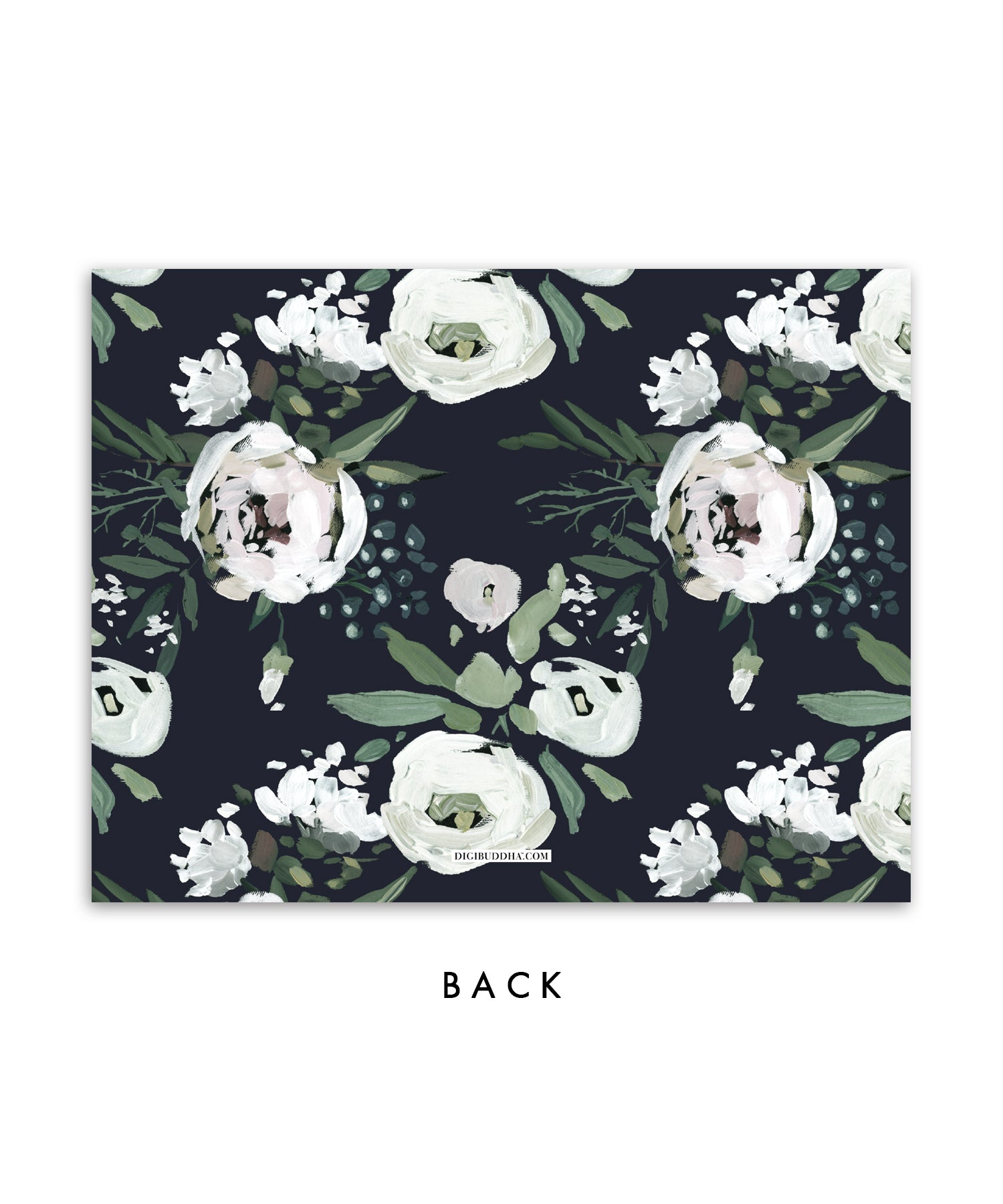 Moody Painted Floral Personalized Stationery Coll. 8A
