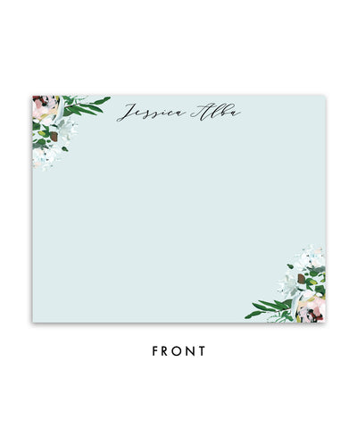 Whimsical Painterly Floral Personalized Stationery