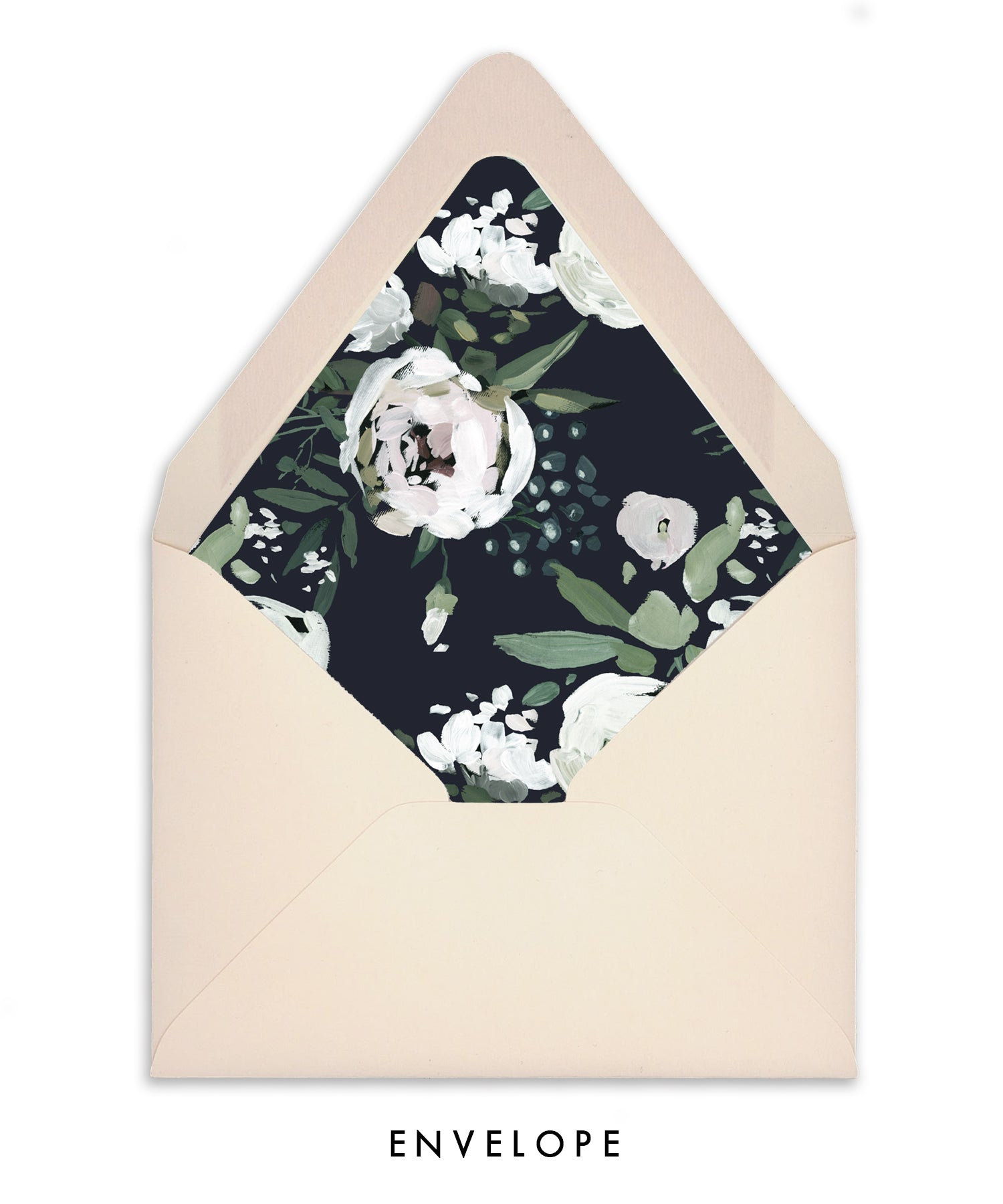 Moody Painted Floral Personalized Stationery Coll. 8B