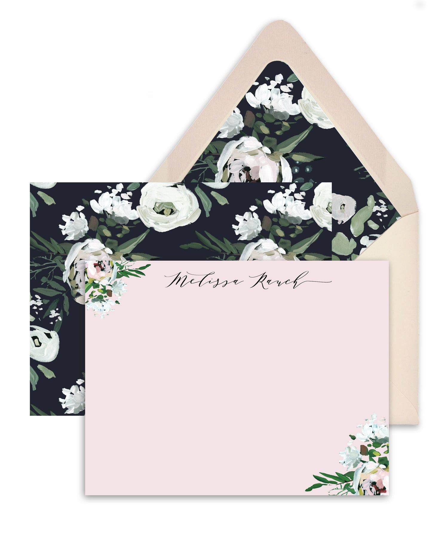 Whimsical Floral Personalized Stationery