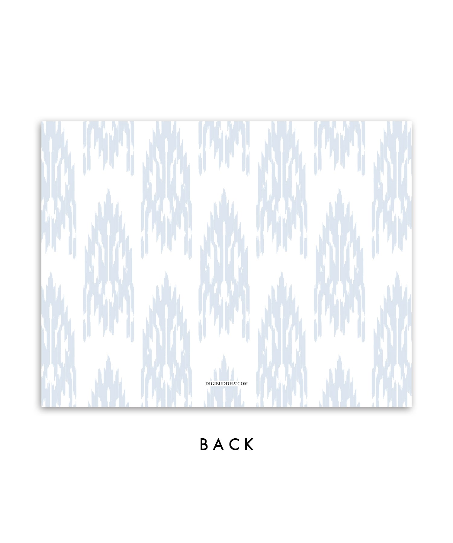 Blue Gray Ikat Personalized Stationery Coll. 10