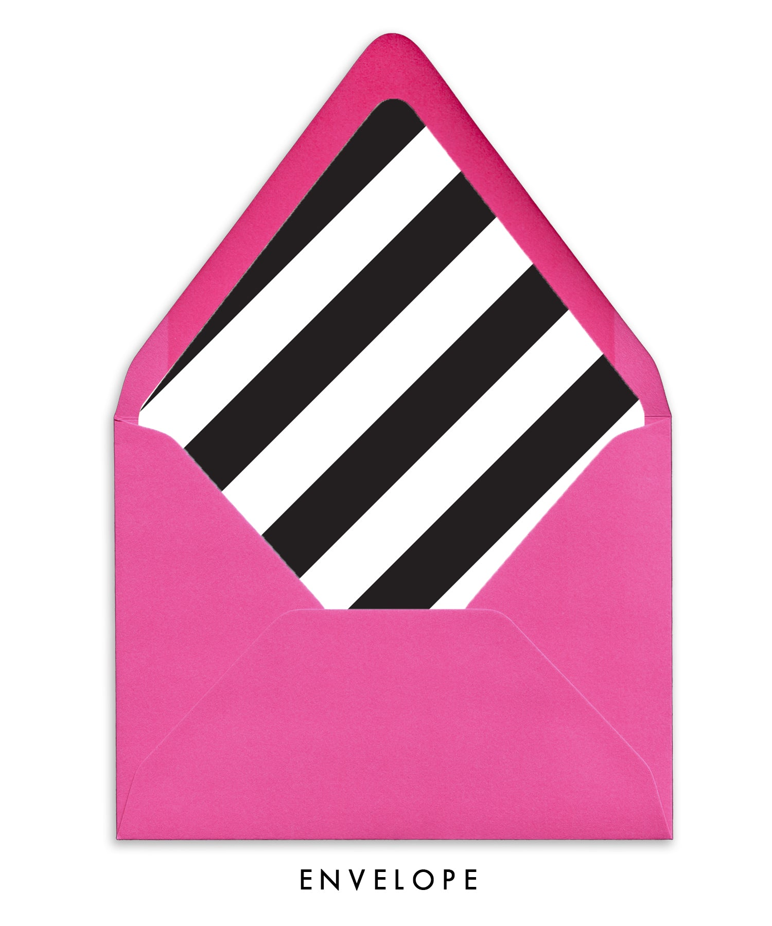 Black & White Stripes Personalized Stationery Coll. 11