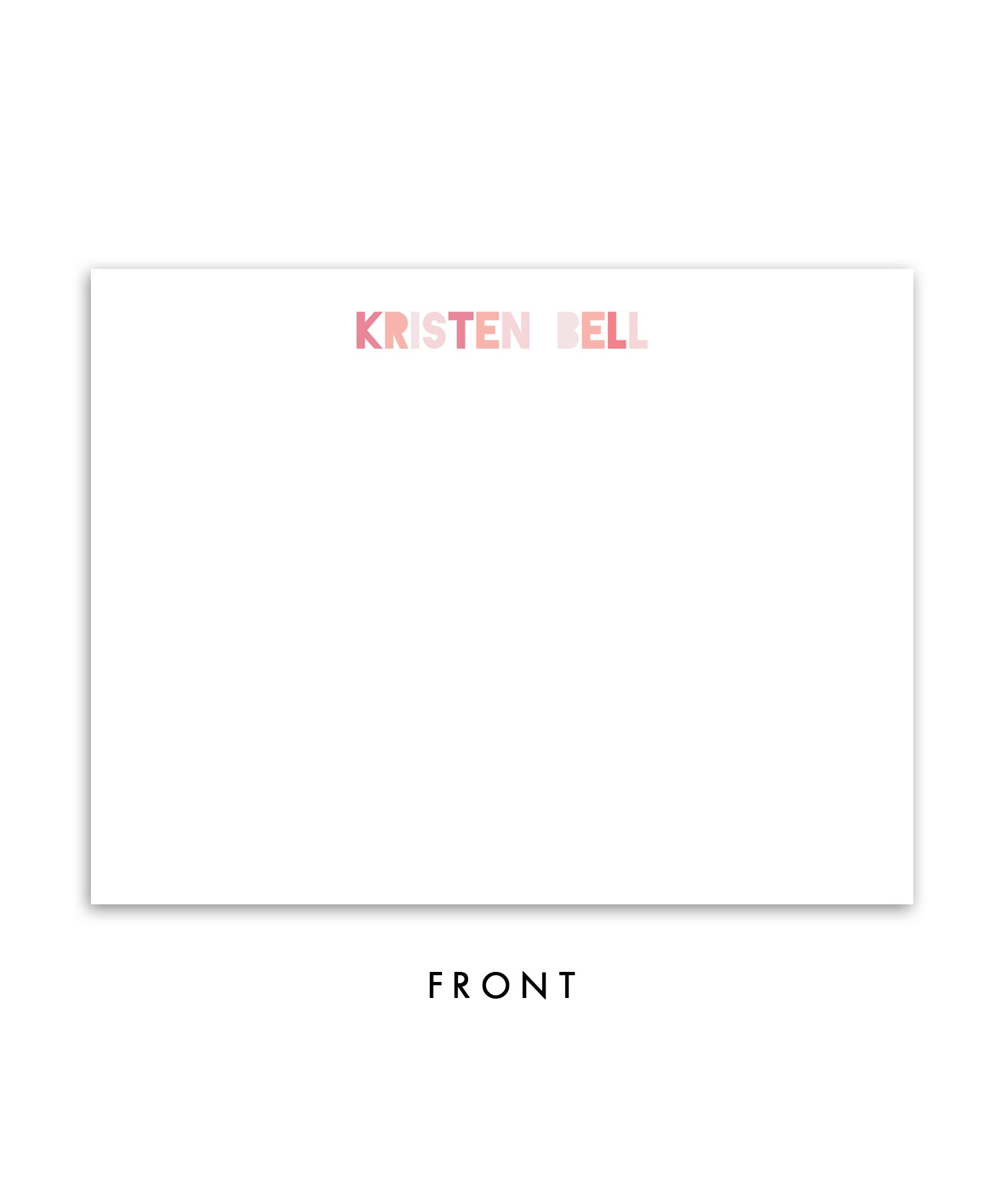 Blush Ikat Personalized Stationery Coll. 12