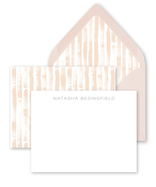 Neutral Stripes Personalized Stationery Coll. 14
