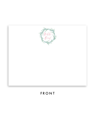 Whimsical Vines Personalized Stationery Coll. 16