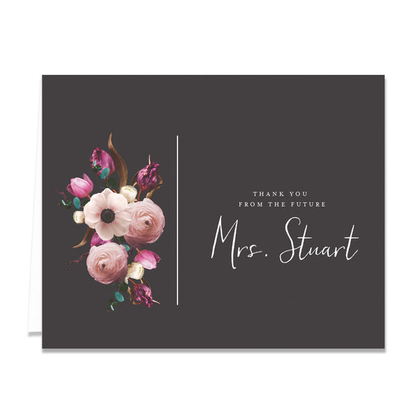 Personalized Bridal Thank You Cards