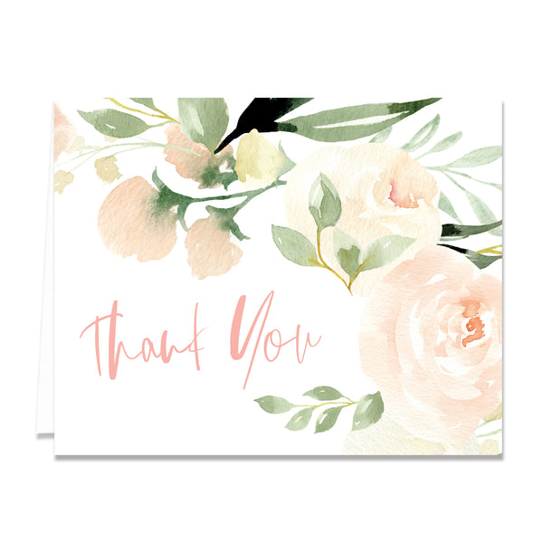 Floral + Greenery Thank You Card Coll. 2