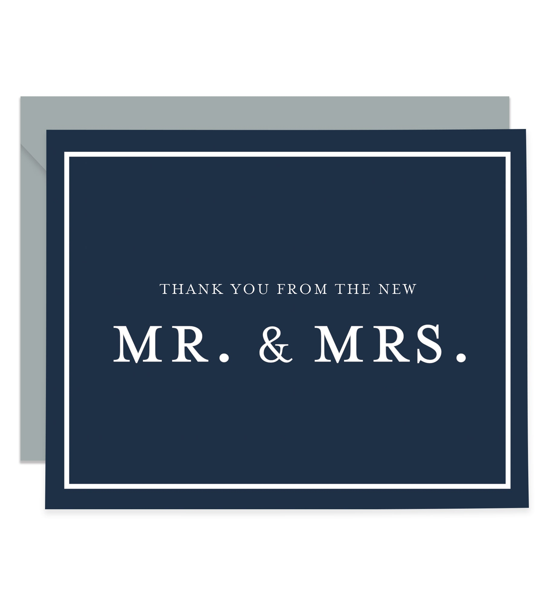 Navy Newlyweds Thank You Cards Coll. 3