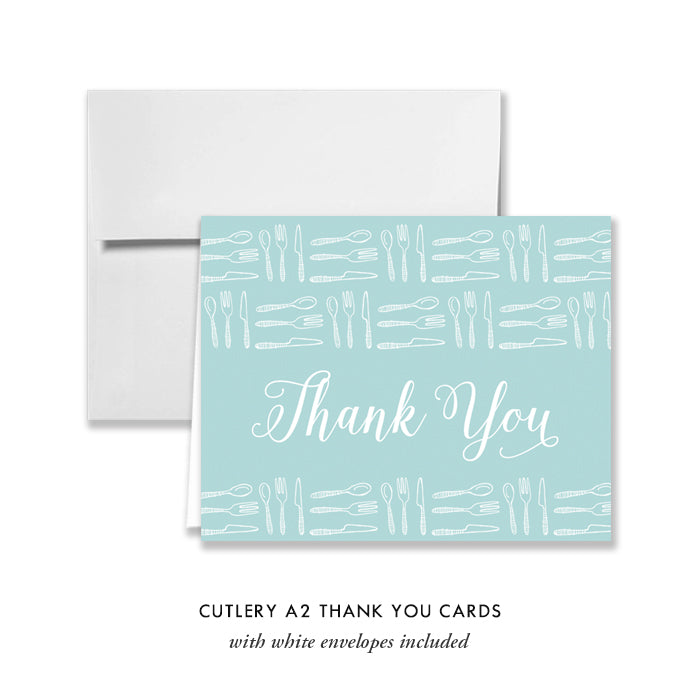Forks & Spoons Thank You Card Coll. 5