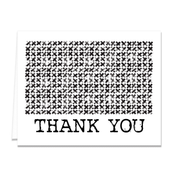 Edgy Black & White Thank You Card Coll. 7