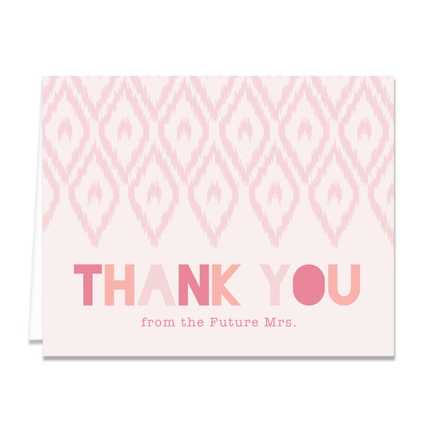 Blush Bridal Thank You Card