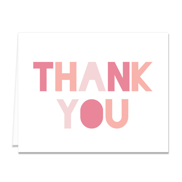 Blush Gradient Thank You Card Coll. 12