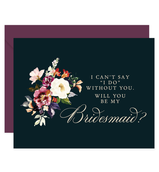 Rustic Bridesmaid Proposal Card with Envelopes