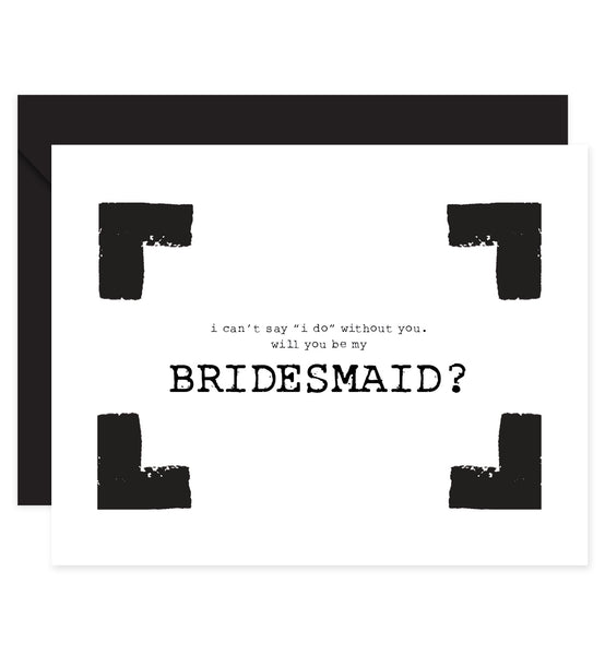 Black & White Bridesmaid Proposal Card